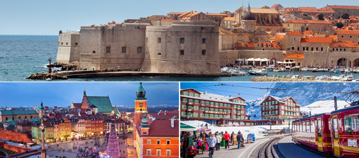 Europe and Scandinavia shore excursions