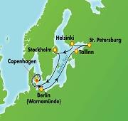 9 night Scandinavia, Russia & Baltic from Copenhagen